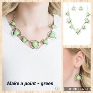 Make a point green necklace